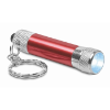 Aluminium torch with key ring in red