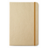 A5 notebook lined paper in gold
