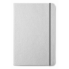 A5 notebook lined paper in matt-silver
