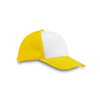 Polyester 5 Panel Baseball Cap in yellow