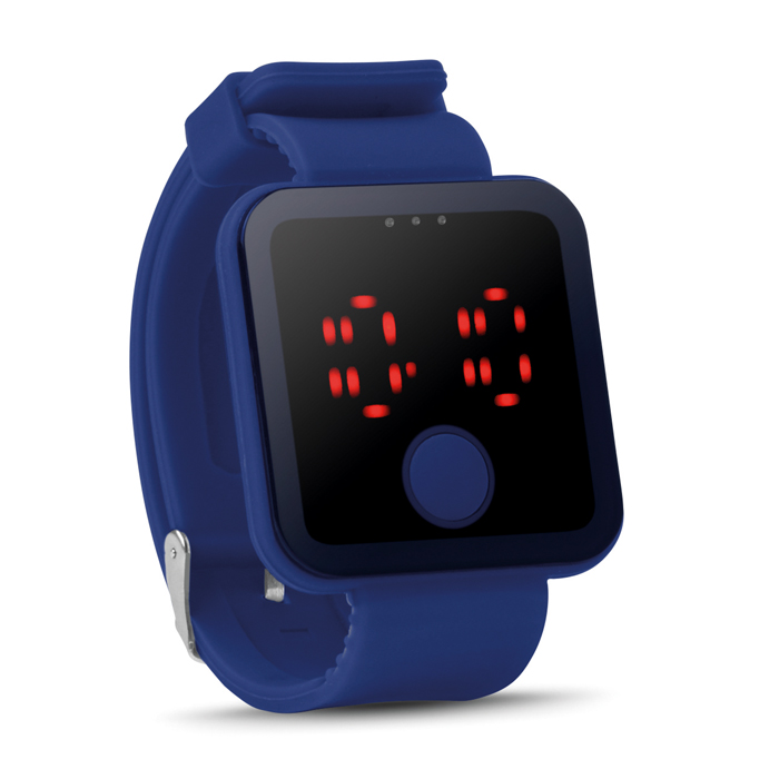 Red Led Watch in royal-blue