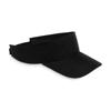 Sun visor in polyester in black