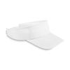 Sun visor in polyester in white