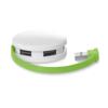 4 port USB hub in lime