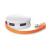 4 port USB hub in orange