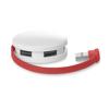 4 port USB hub in red