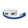 4 port USB hub in royal-blue