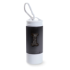 Led Torch With Pet Waste Bag in black
