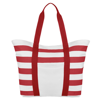 Beach Bag Striped in red