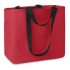 Shopping Bag In 600D Polyester in red