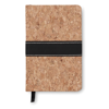 A6 Notebook Cork Covered in brown