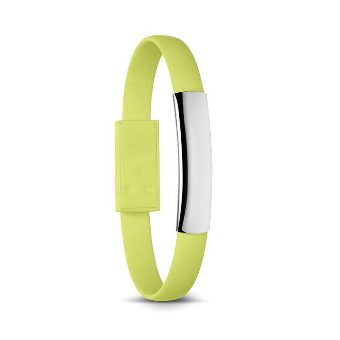 Bracelet cable with micro USB in lime