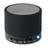 Round Bluetooth speaker in black