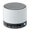 Round Bluetooth speaker in white