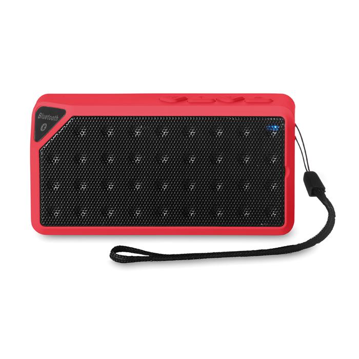 Rectangular Bluetooth Speaker in red