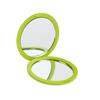 Double sided compact mirror in lime