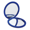 Double sided compact mirror in royal-blue