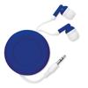 Retractable Earphones in royal-blue