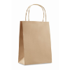Gift paper bag small size in beige