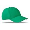 6 panels baseball cap in green
