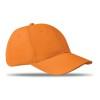 6 panels baseball cap in orange
