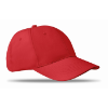6 panels baseball cap in red