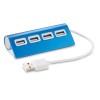 4 port USB hub in blue