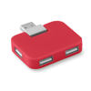 4 port USB hub in red