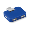 4 port USB hub in royal-blue