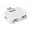 4 port USB hub in white