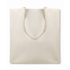 Shopping Bag In Organic Cotton in beige