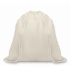 Organic Cotton Drawstring Bag in beige