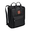 600D Polyester Backpack in black