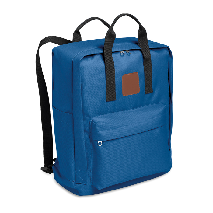 600D Polyester Backpack in royal-blue