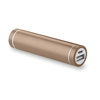 Cylinder Shape Powerbank in champagne