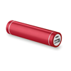 Cylinder Shape Powerbank in red