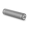 Cylinder Shape Powerbank in titanium