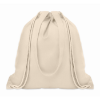 Drawstring and handles bag      in beige