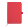 A5 Notebook With Paper Cover in red