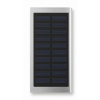 Solar Power Bank 8000 Mah in matt-silver