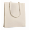 Shopping Bag With Gusset in beige