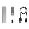 Set 8Gb Memory With Power Bank in matt-silver