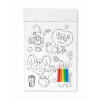 Colouring magnetic stickers     in white