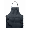 Apron in leather                in black