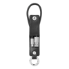 USB-A to micro-B cable keyring in black