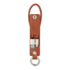 USB-A to micro-B cable keyring in brown
