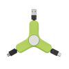 3 in 1 charging cable spinner in lime