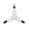 3 in 1 charging cable spinner in white
