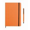 Notebook set in orange