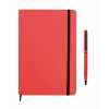 Notebook set in red